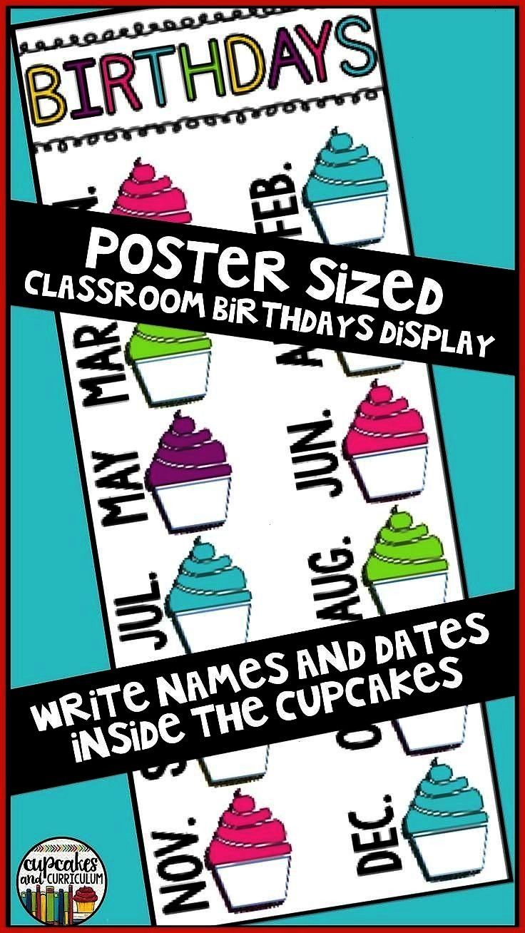 Back to School Get your classroom ready with a classroom birthday display Simply print poster-size