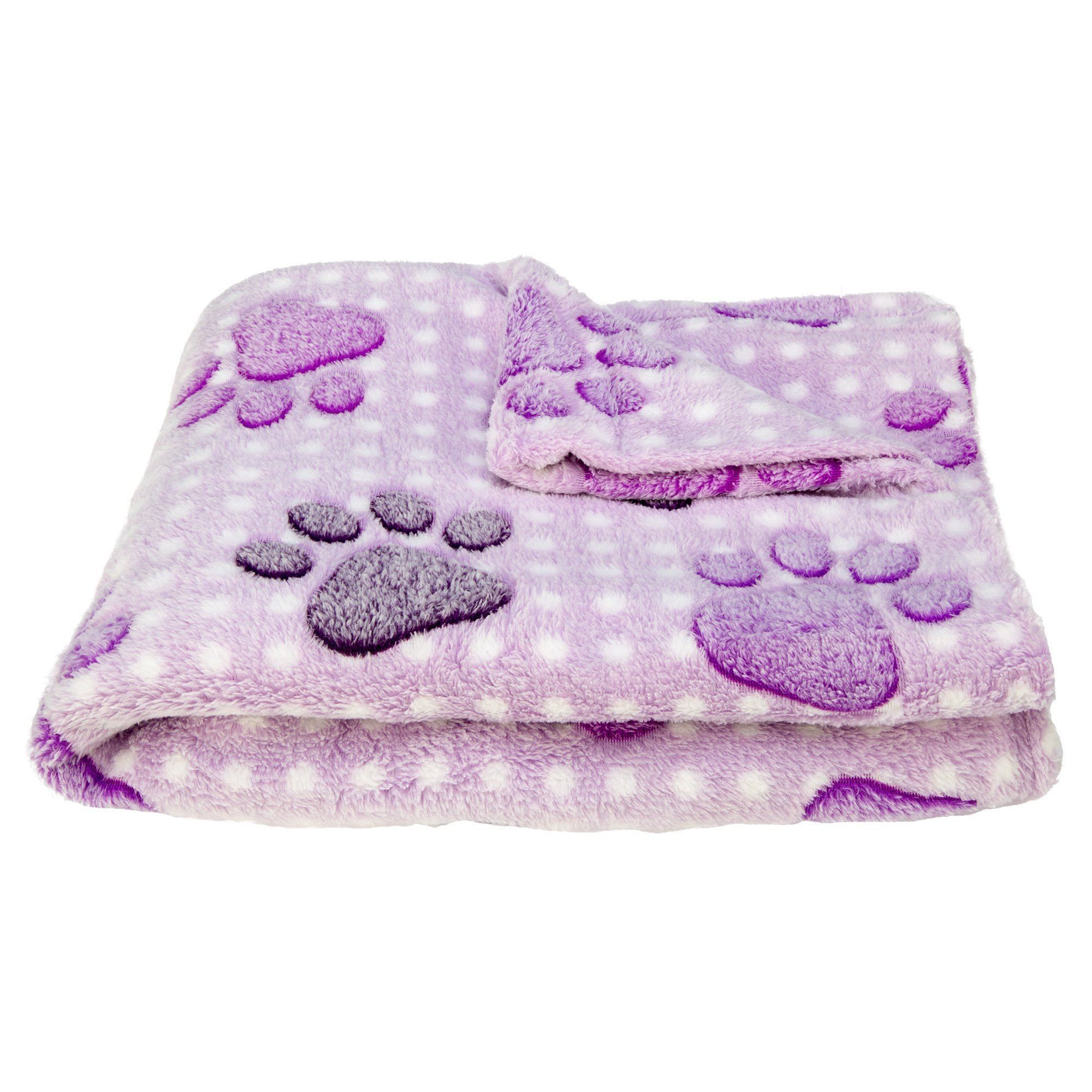 Super Cozy™ Fleece Paw Print Throw Blanket in 2020 Paw