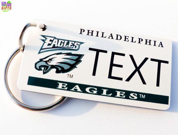 online store ce705 d5971 Personalized Philadelphia Eagles Keychain Tag Retro ...