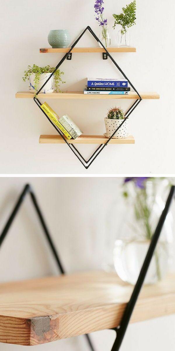 Diamond Cross Planes Shelf: tiered shelf in a diamond ...