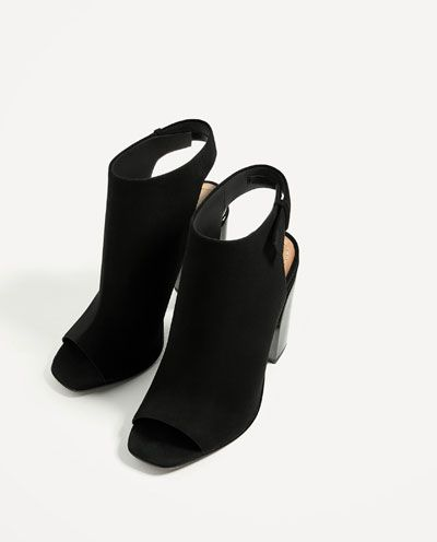 Image 5 of SLINGBACK LEATHER ANKLE BOOTS from Zara