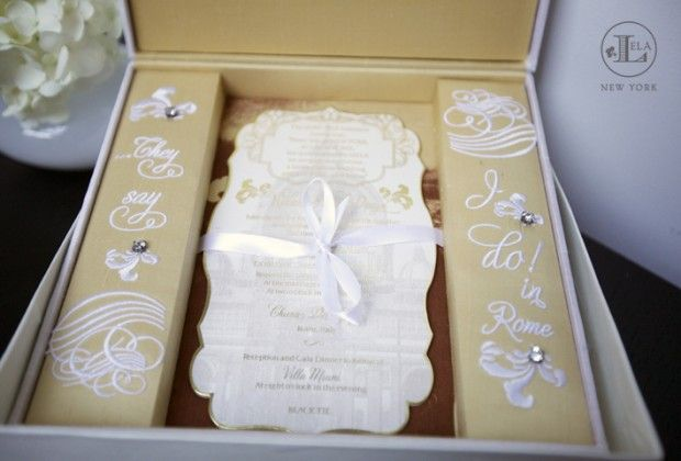 Expensive Wedding Invitation: This Is A Seriously Expensive Invitation, Gold And White