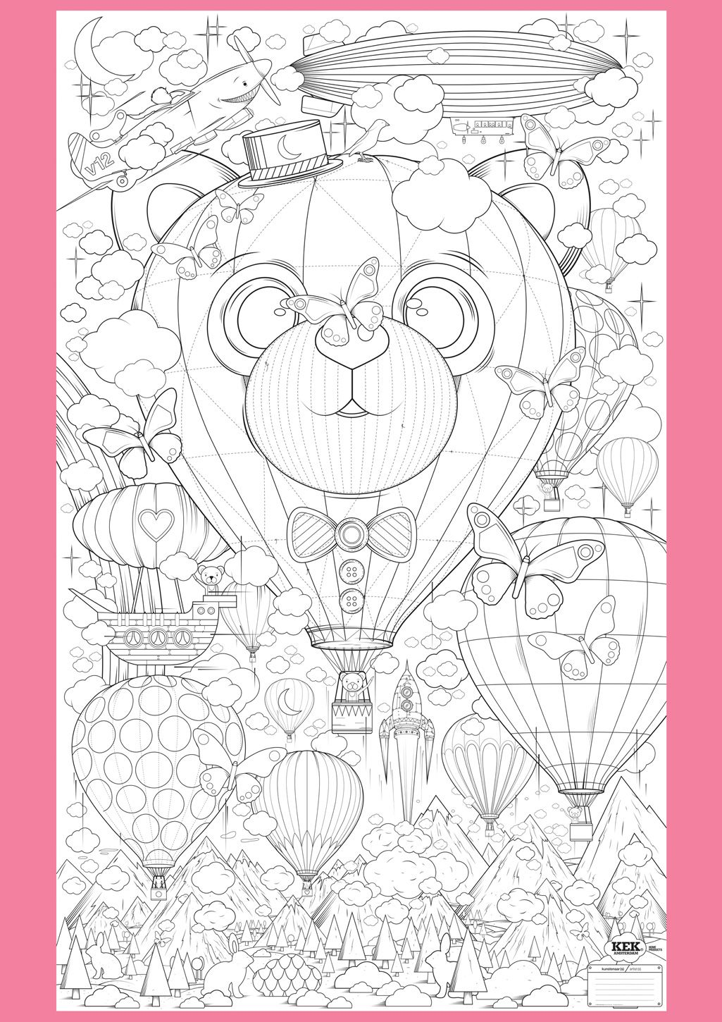 Supersized Colouring Picture Up And Away Kleurplaten Mandala Kleurplaten Gratis Kleurplaten