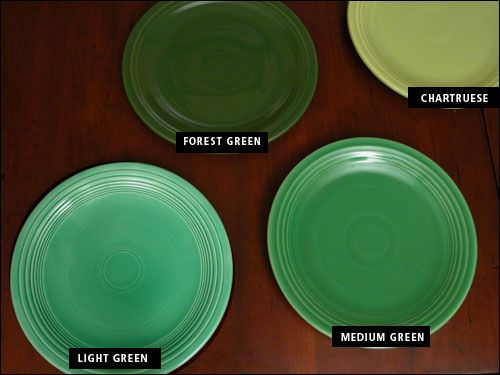 Vintage Fiesta Greens Helpful For Telling The Difference