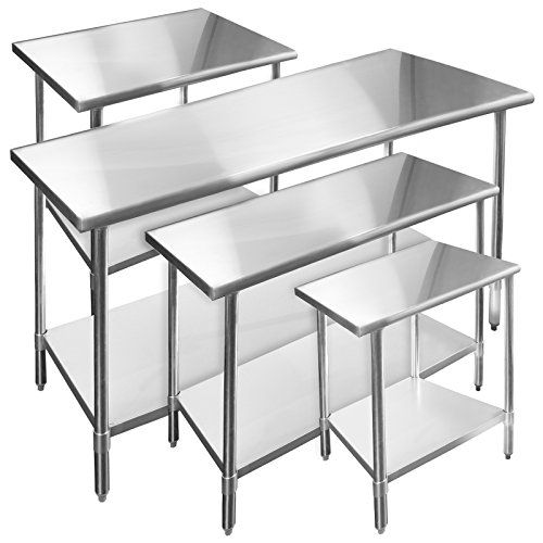 Gridmann Stainless Steel Commercial Kitchen Prep U0026 Work Table   48 In. X 24  In