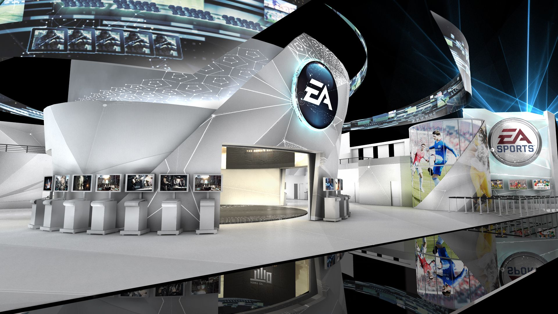 Exhibition Stand Futuristic : A truly futuristic booth design engaging interactive