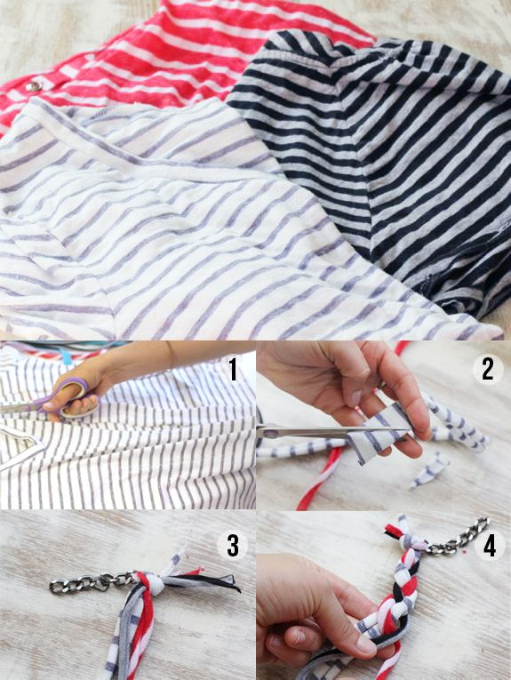 diy jewelry   Second Life for Striped Shirts. And other great craft ideas!