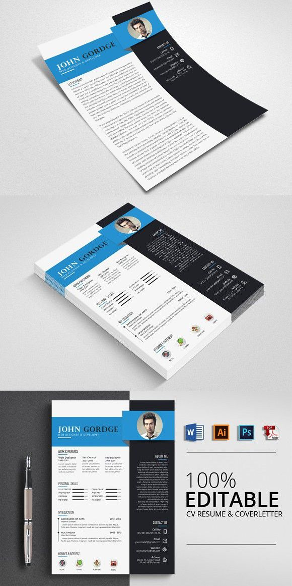 Creative Word CV Resume Simple Resume Templates Pinterest - Simple Format For Resume