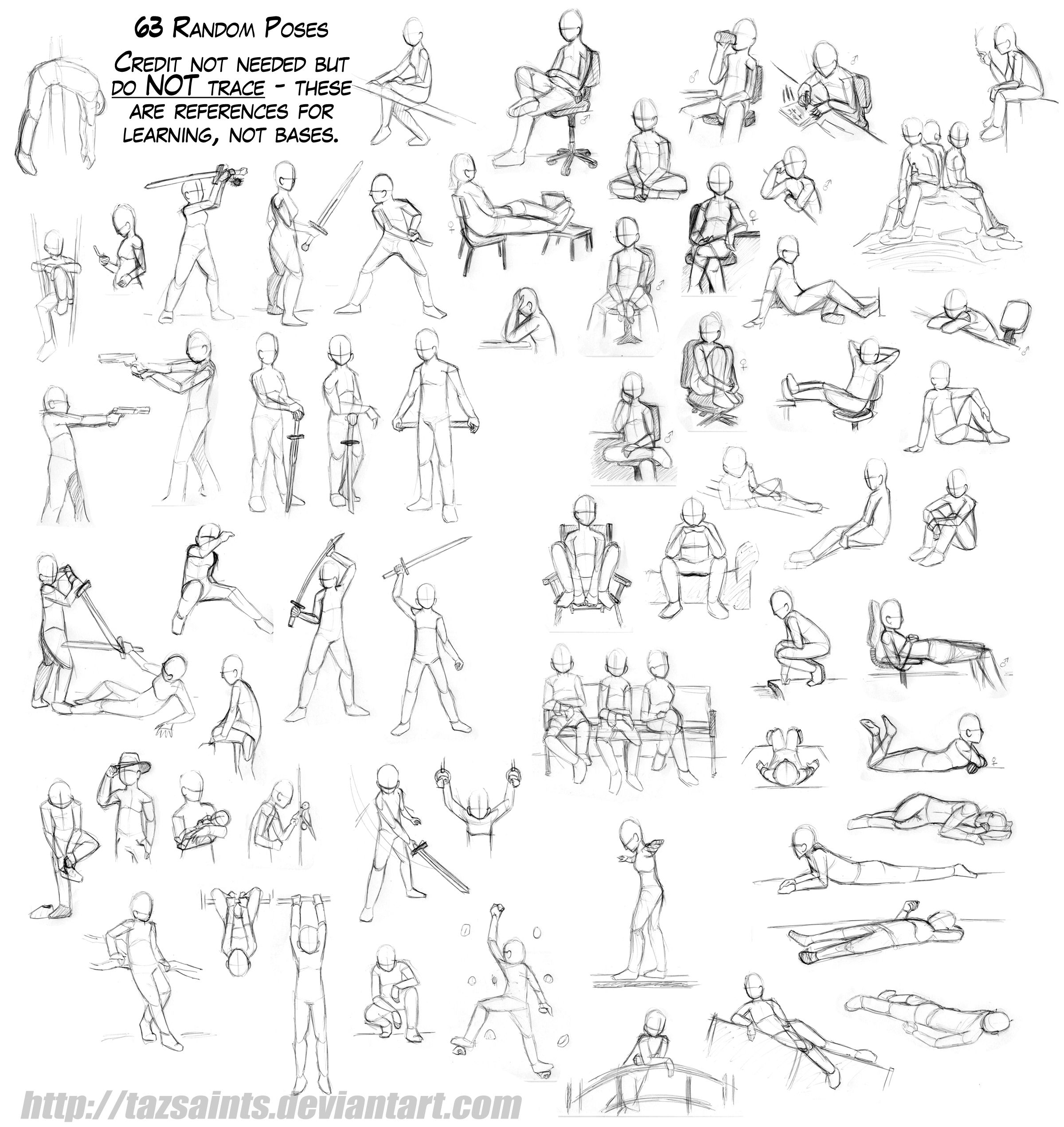 63 Random Poses by on deviantART
