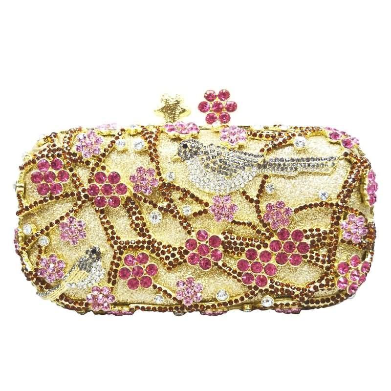 Wintersweet Clutch Bags Chinese Style Plum Blossom Tree Birds Crystal Evening Bags Wedding Bride_6     https://www.lacekingdom.com/