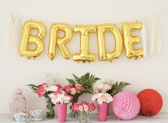 bride big gold letter balloons giant 40 inch metallic gold foil mylar balloons engagement party de