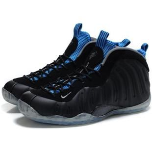 www.asneakers4u.com Penny Hardaway Shoes Nike Air Foamposite One Black/Royal  Blue