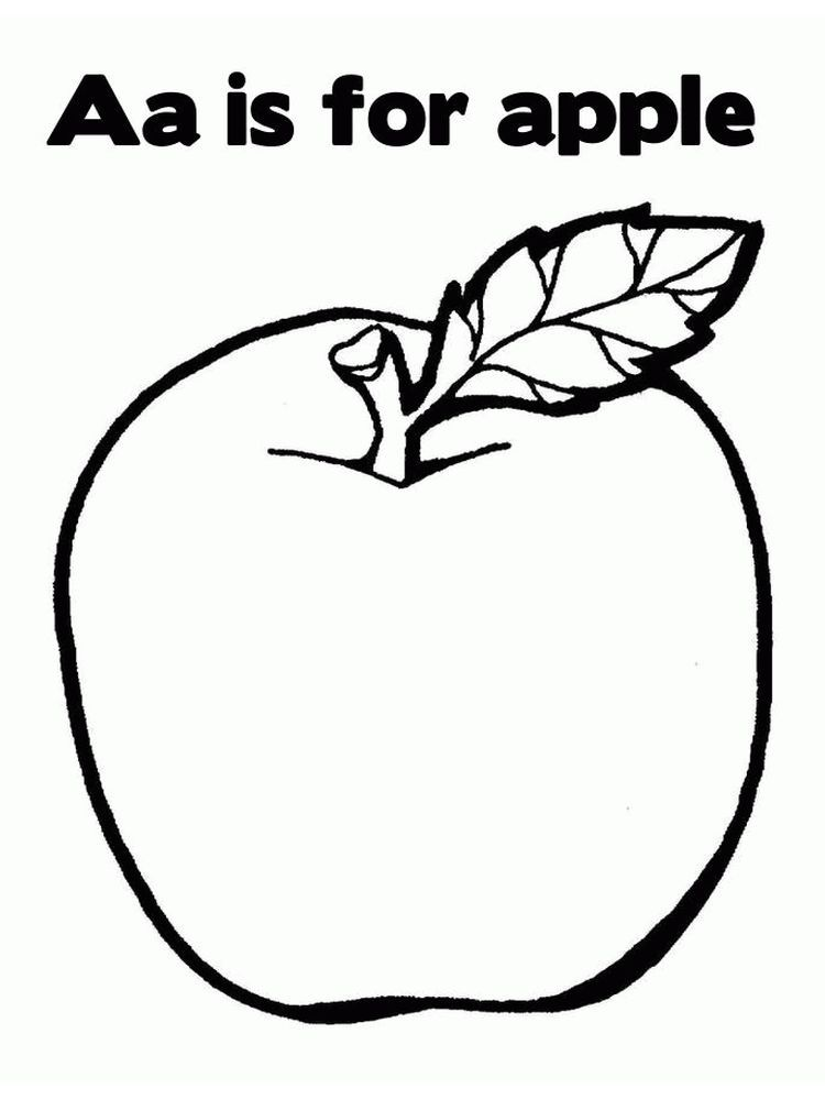 Picture Of An Apple Coloring Page Apples Are One Of The Fruits That Many People Like Apart From Its Apple Coloring Pages Fruit Coloring Pages Apple Coloring