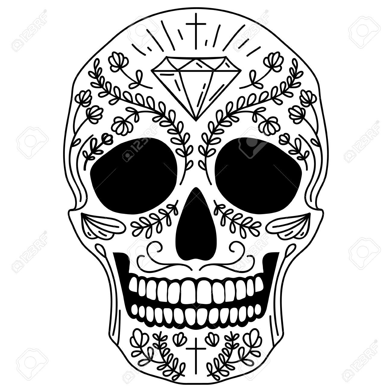 Resultado de imagen para calavera mexicana vector ...