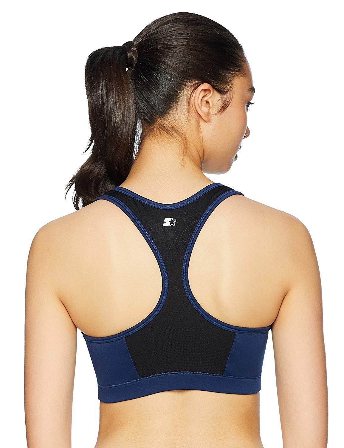 eb346c2ed9 Amazon.com  Starter Women s Medium Impact Mesh Panel Sports Bra ...