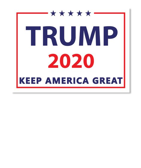 Trump 2020 Sticker Keep America Great White Sticker Front