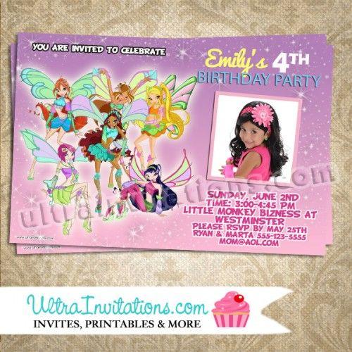 Winx Club Birthday Invitations - Fairy Invitation Invitations - fresh invitation for birthday party by email