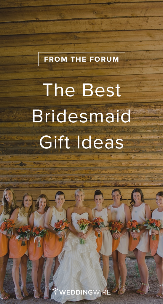 Real Brides share the BEST Bridesmaid Gift Ideas! Read the list and add your own on @weddingwire! {Brittany Michelle Photographer}