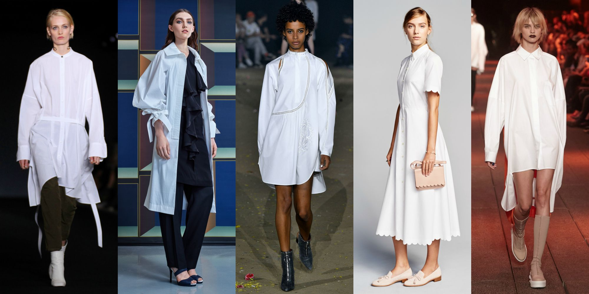 The Top Trends From Spring 2017 New York Fashion Week: White Shirt Dresses