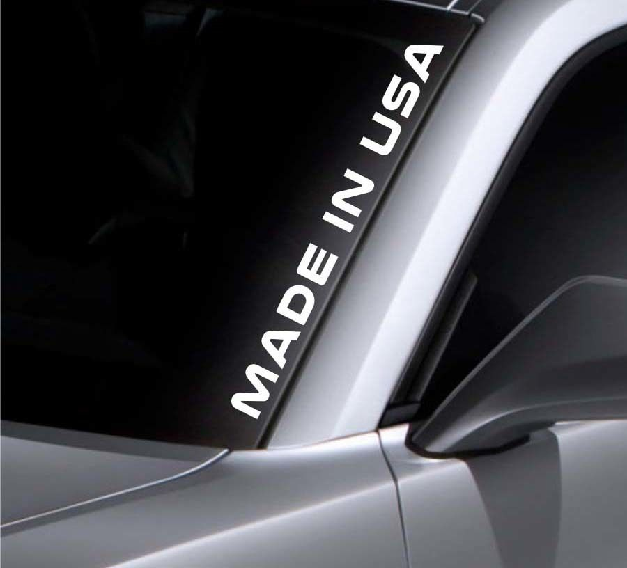 Product Made In Usa Windshield Sticker Vinyl Window Decal Car Sticker Fits Ford Mustang Window Decals Car Vinyls Vinyl Window Decals Window Vinyl