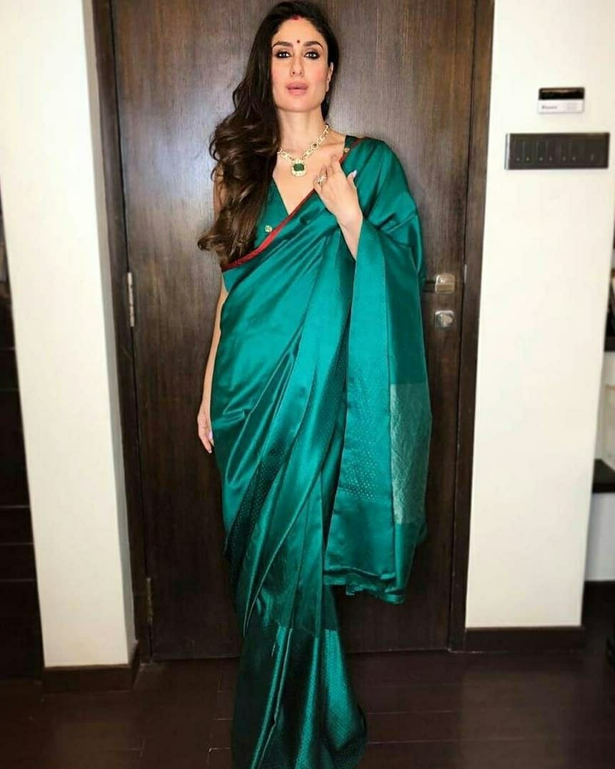 77c3bc10a5 Look for Diwali bash   Kareena Kapoor Khan in 2019   Saree, Kareena ...