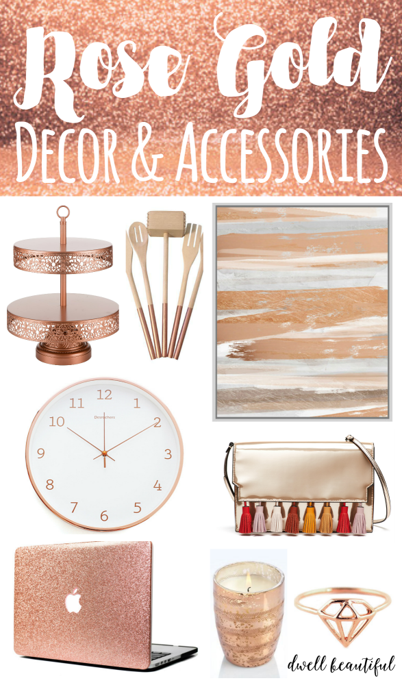 Stylish Rose Gold Home Decor And Accessories In 2020 With Images