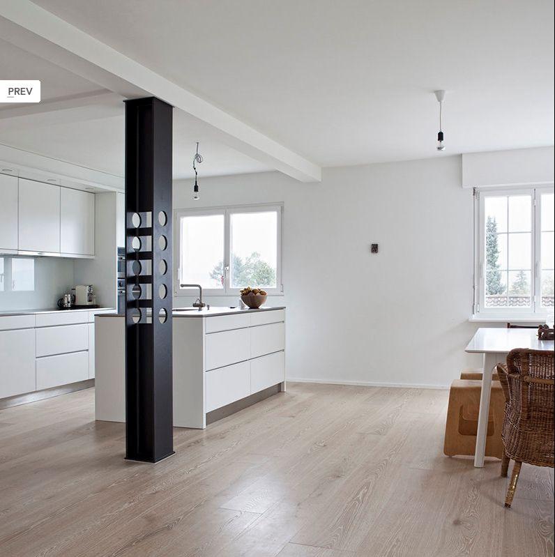 Küche, heller Parkettboden   Cuisine   Pinterest   Küche, Rund ums ...