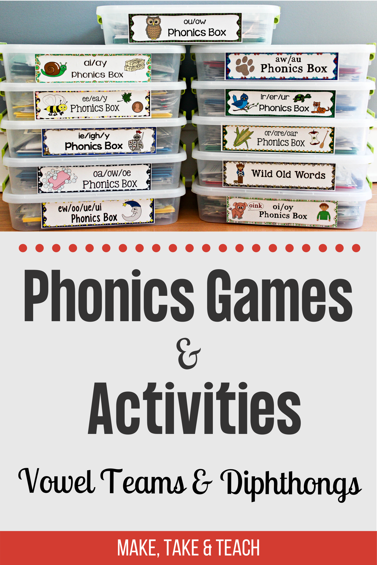 Phonics Games And Activities For The Aw Au Diphthongs