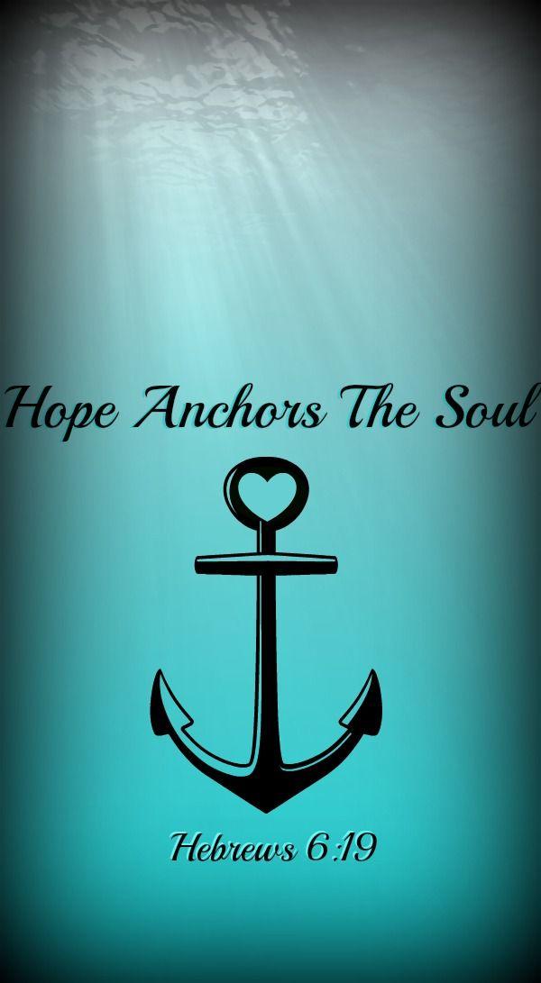 Anchor Ocean Scripture Christian Phone Wallpaper Background