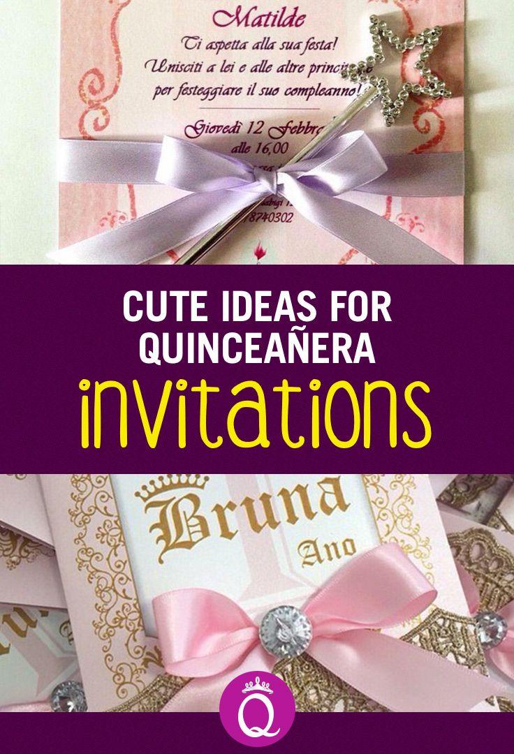 Invitations for Quinceaneras Elegant invitations Quinceanera