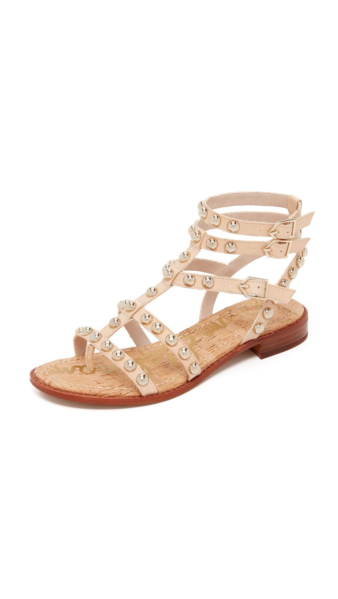 60c113ad762e Sam Edelman Eavan Gladiator Sandals - Natural Naked