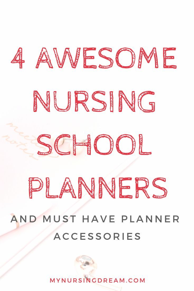 4 Awesome Nursing School Planners and Must-Have Planner Accessories #nursingstudents