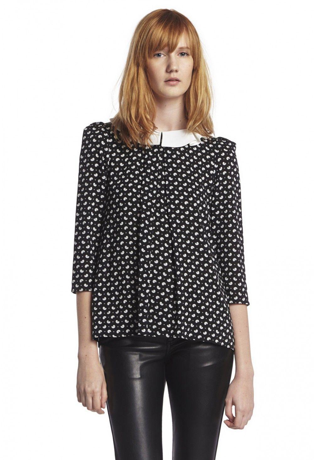 Top BONNY NOIR - Top Femme - Claudie Pierlot Blouses, Dress Shirt, Black  People cb1ff7d6a8b7