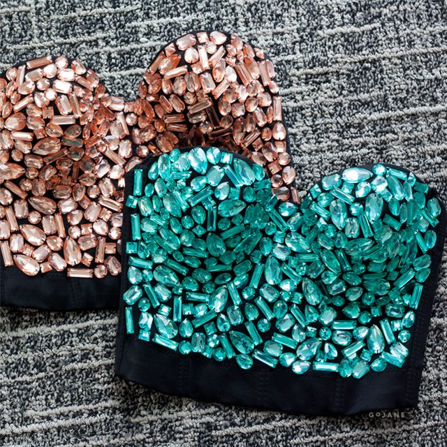 Bejeweled Babe Corset Tube Top