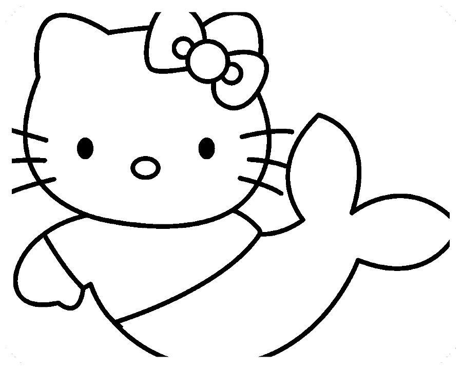 Dibujos De Hello Kitty Para Colorear Con Imagenes Hello Kitty
