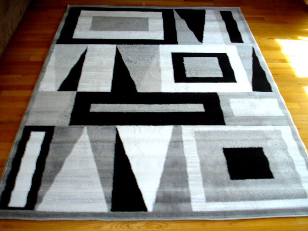 modern black grey white design area rug carpet new 5x8 rugs on sale under 50 walmart