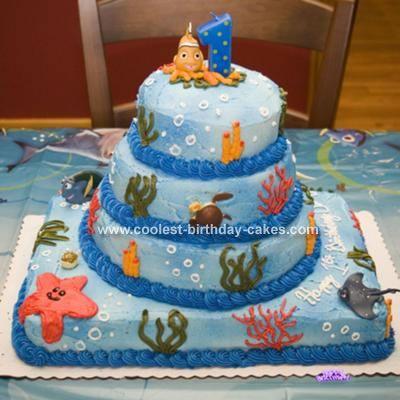 Coolest Finding Nemo DIY Cake Finding nemo cake Costco cake and