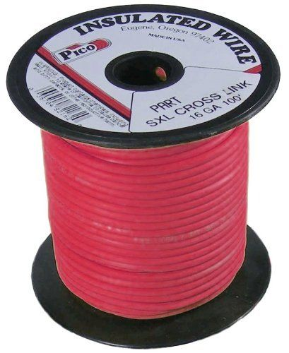 Pico 82161s 16 Awg Red Sxl Cross Linked Wire For Higher Heat Resistance 100 Per Package By Pico 24 95 Sxl Cross Li Electrical Wiring Insulation Electricity