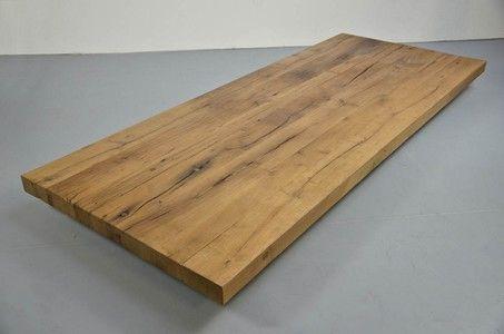 Tischplatte weiß nach maß  Tischplatte Altholz Eiche 8cm nach Maß | Esstischplatte | Pinterest ...