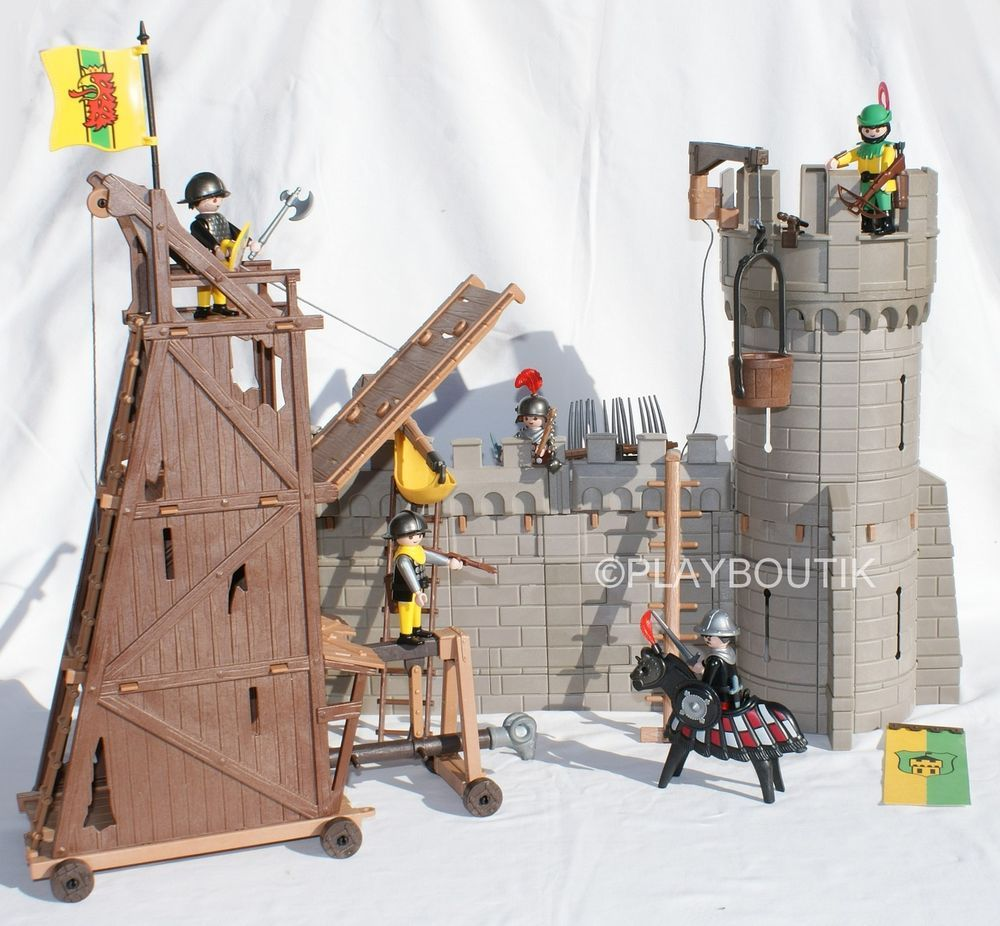 Playmobil chevalier ch teau fort et tour d 39 assaut 3123 - Chateau chevalier playmobil ...