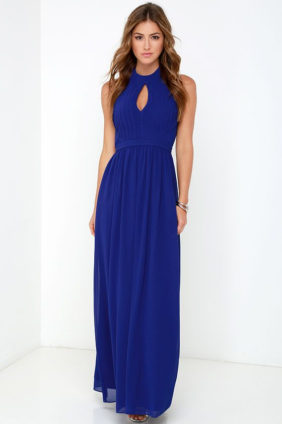 4565744b229 Ooh Gala-La Royal Blue Maxi Dress at Lulus.com!