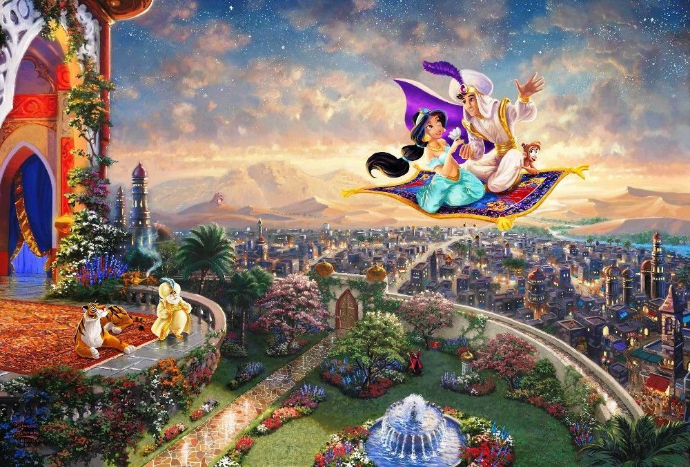 Thomas kinkade aladdin princess jasmine home wall decor - Home interiors thomas kinkade prints ...