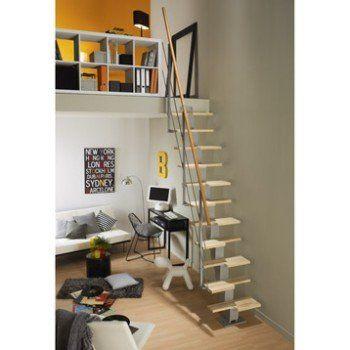 Escalier Droit Esca Deca Structure Metal Marche Bois Leroy Merlin Idees Escalier Decoration Maison Escalier