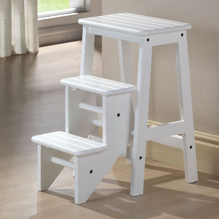 Boraam 3-Step Wood Step Stool & Reviews | Wayfair