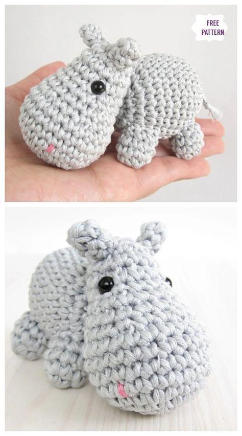 Amigurumi Hippo Mobile Free Crochet Patterns – Schlüsselanhänger