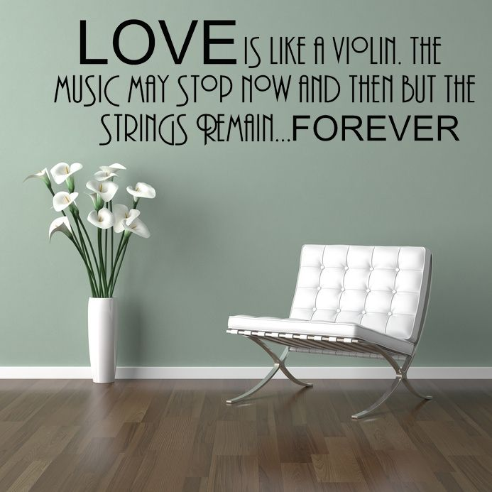 Love Wall Decals Love Is Like A Violin Wall Sticker Decals - Custom vinyl wall decals for kitchenbest vinyl wall art images on pinterest vinyl wall art wall