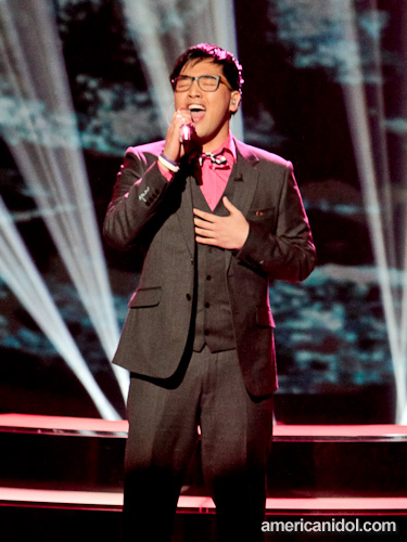 "Heejun performs ""Right Here Waiting"" by Richard Marx at the Top 11 performance show."