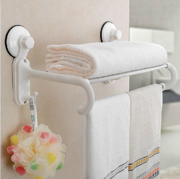 (Buy here: http://appdeal.ru/1pyv ) HOT SELLING, FREE SHIPPING, Bathroom towel holder, Foldable towel rack,60cm Stainless steel towel rack with hooks for just US $46.94