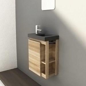 meuble salle de bain en frene massif