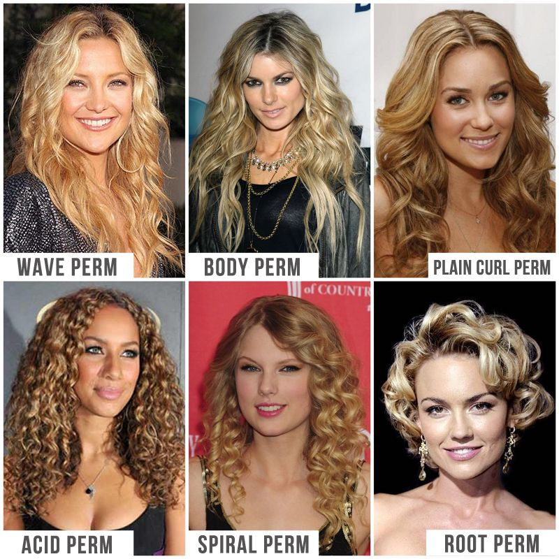 All Types Of Perms I Wouldn T Reccomend Bleaching And Perm But The Curl Patterns Give You A Nice Visual Long Hair Perm Permed Hairstyles Hair 101